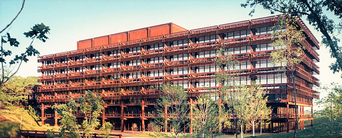 Фото - Первое здание из стали Corten